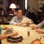 Mike Kravinsky directing actors Rick Kain and Connie Bowman. Photo Credit: Liza Kravinsky